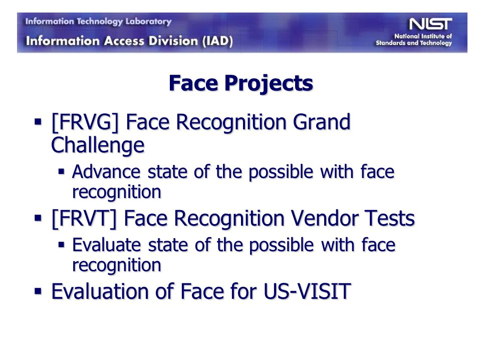 [FRVG] Face Recognition Grand Challenge